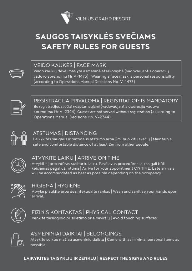 Saugos taisyklės svečiams